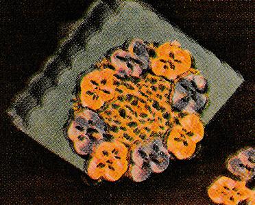 Pansies Napkin Stand Pattern #7102