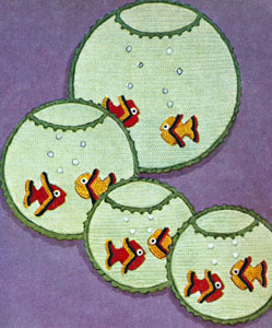 Aquarium Hot Plate Set & Pot Holders Pattern