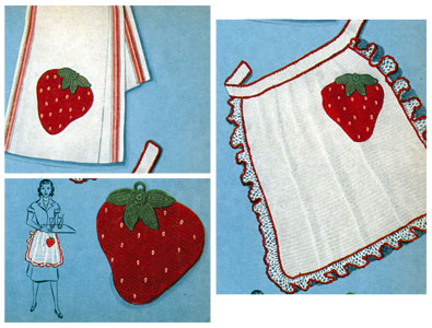 Strawberry Hostess Set Pattern