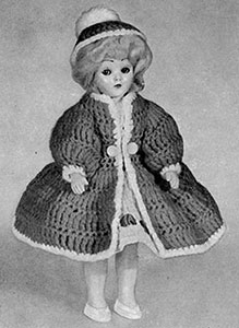 Coat and Hat Doll Pattern #564