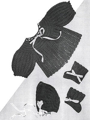 Crochet Baby Set Pattern #724
