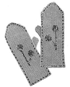 Ladies Mittens Pattern #617
