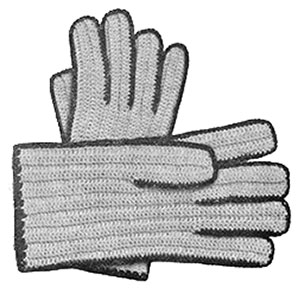 Ladies Crochet Gloves Pattern #618