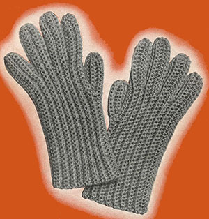 Mens Crochet Gloves Pattern #624