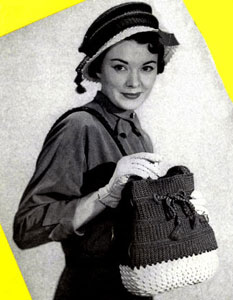 Town 'n Country Hat & Bag Set Pattern
