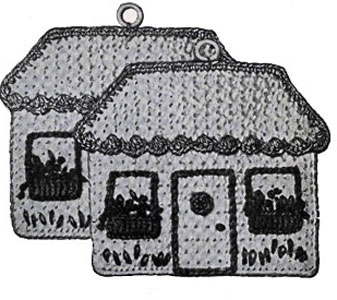 Cottages Pot Holder Pattern