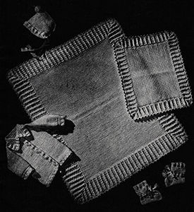 Baby's Six-Piece Crocheted Set Pattern #6007
