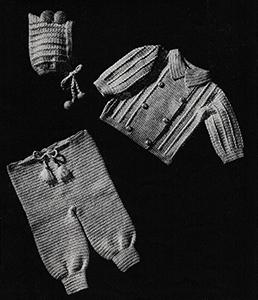 Baby's Three-Piece Crocheted Legging Set Pattern #6009