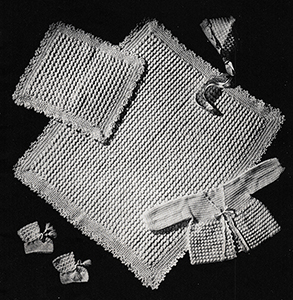 Baby's Six-Piece Crocheted Set Pattern #6010