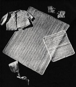 Baby's Six-Piece Crocheted Set Pattern #6011