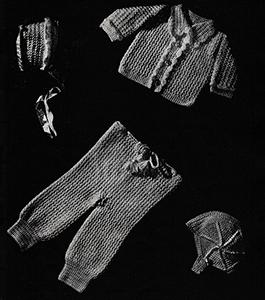 Baby's Three-Piece Crocheted Legging Set Pattern #6012