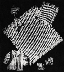 Baby's Six-Piece Crocheted Set Pattern #6013