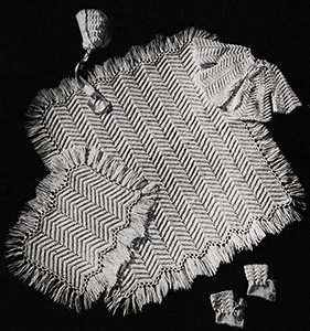 Baby's Six-Piece Crocheted Set Pattern #6015