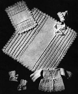 Baby's Six-Piece Crocheted Set Pattern #6016