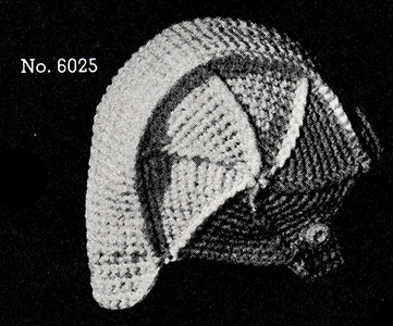 Crocheted Aviator Cap Pattern #6025