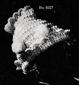 Baby's Crocheted Bonnet Pattern #6027
