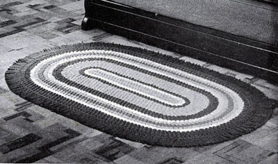 Bright and Gay Crocheted Oval Rug Pattern Crochet Patterns