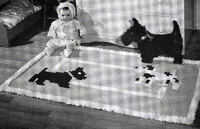Playmates Crocheted Nursery Rug Pattern