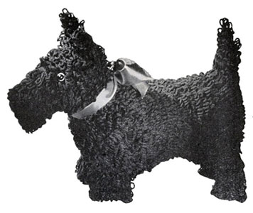Scottie in Loop Stitch Toy Pattern