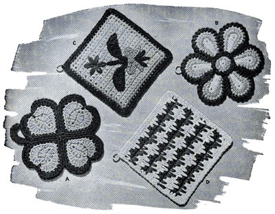 Crocheted Pot Holders Patterns