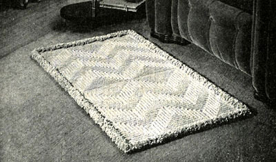 Spotlight Crochet Patterns : Spotlight on Texture Crocheted Rug Pattern Crochet Patterns
