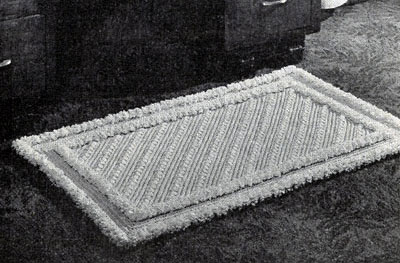 Two Toned Triumph Crocheted Rug Pattern