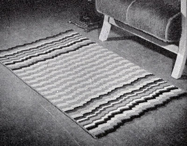 Rippling Harmony Crocheted Rug Pattern