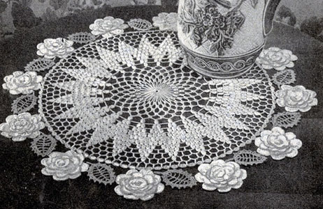 Rose Circle Doily Pattern 3 Crochet Patterns