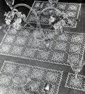 Filmy Charm Table Doily Set Pattern