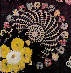 Pansy Wreath Doily Pattern #4