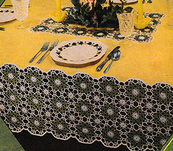 Spring Leaves Tablecloth Pattern #1