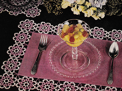 Crocheted Tatting Table Doily Pattern #3
