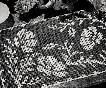 Poppy Parade Place Mats Pattern #6