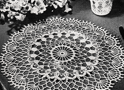 Valentine Table Doily Pattern #10