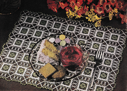 Square Dance Table Doily Pattern #13