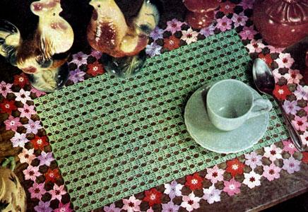 Phlox Garden Place Mat Pattern