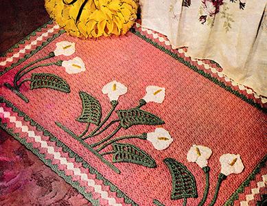 Calla Lily Garden Rug Pattern #8