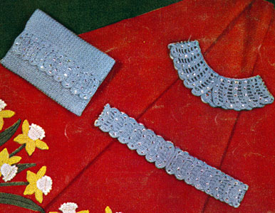 Glitter Collar, Belt and Bag Set Pattern