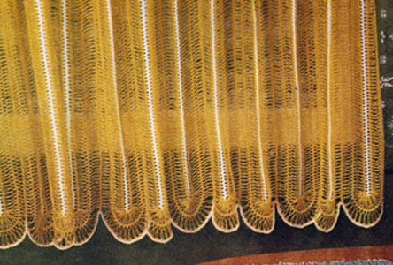 Hairpin Lace Cafe Curtains Pattern