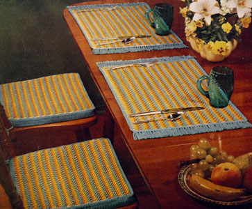 Place Mats and Chair Pad Covers Pattern