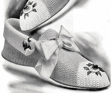 Ladies' Crochet Slippers Pattern #1014