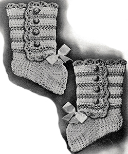 Baby's High Bootees Pattern #1032