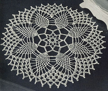 Pineapple Petals Doily Pattern #12-50