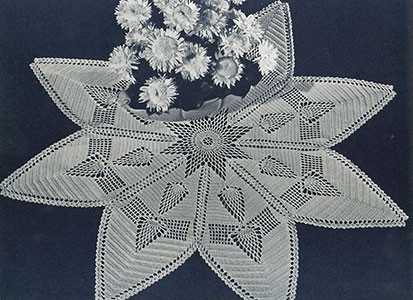 Shining Star Doily Pattern #12-51
