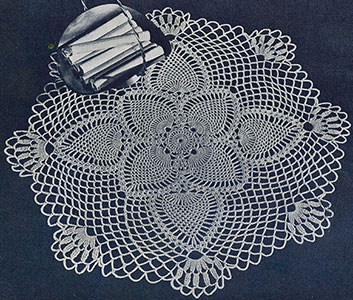 Pineapple Posy Doily Pattern #12-55
