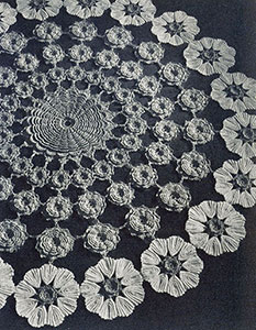 Bouquet Doily Pattern #12-62