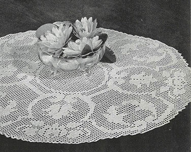 Tudor Rose Elegance Doily Pattern #3-53