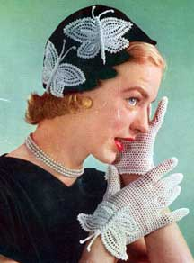 Butterfly Hat & Gloves Patterns #S-36