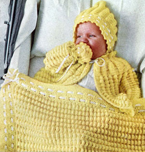 Shell Stitch Baby Set Pattern