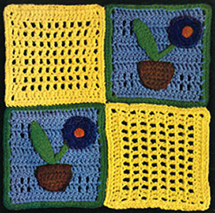 How Does Your Garden Grow Afghan Pattern #539